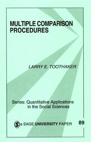 Multiple Comparison Procedures   1999 edition cover