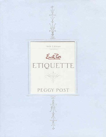 Emily Post's Etiquette Indexed 16th 1997 edition cover