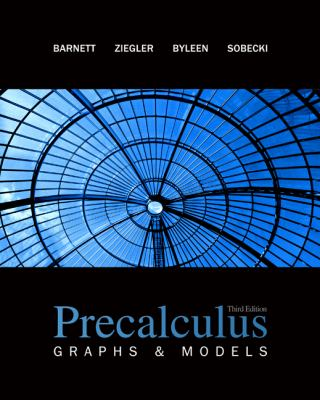 Precalculus: Graphs & Models with Student Solutions Manual  3rd 2009 edition cover