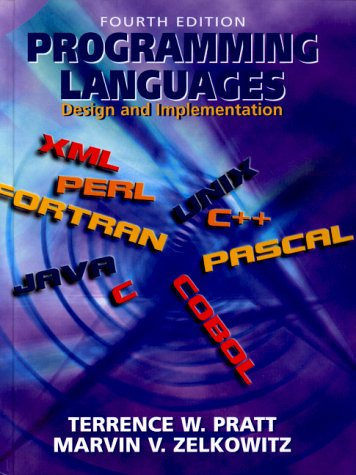 Programming Languages Design and Implementation 4th 2001 edition cover