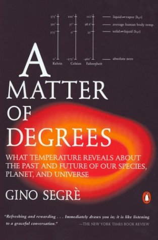Matter of Degrees What Temperature Reveals about the Past and Future of Our Species, Planet, and Universe N/A edition cover