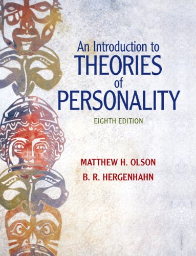 Introduction to Theories of Personality  8th 2011 edition cover