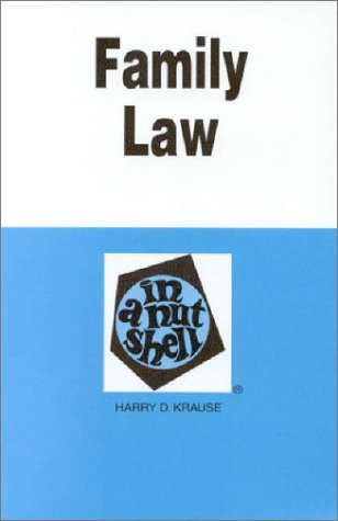 Family Law in a Nutshell 3rd 1995 9780314065780 Front Cover
