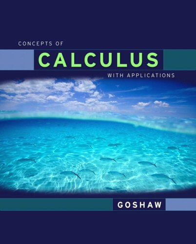Concepts of Calculus with Applications   2008 edition cover