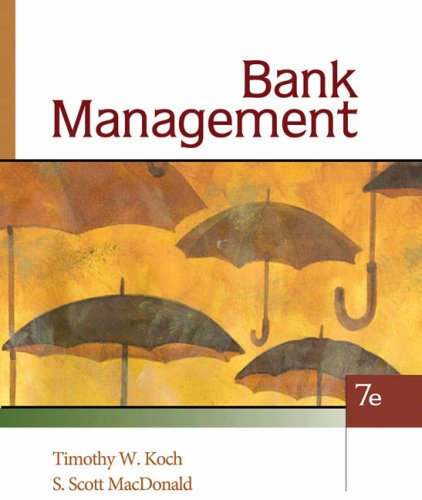 Bank Management  7th 2010 edition cover