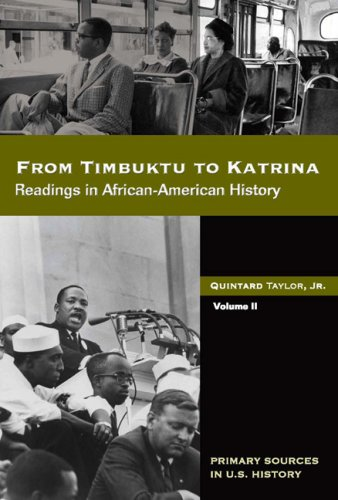 From Timbuktu to Katrina Readings in African American History  2008 edition cover