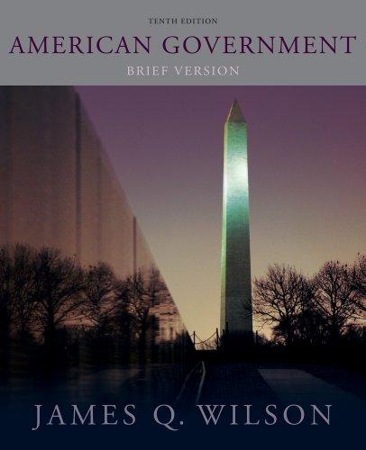 American Government Brief Version 10th 2012 (Brief Edition) edition cover