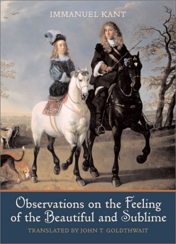 Observations on the Feeling of the Beautiful and Sublime  2nd 2004 edition cover