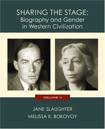 Sharing the Stage Biography and Gender in Western Civilization  2003 edition cover