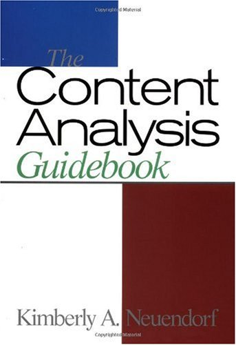 Content Analysis Guidebook   2002 edition cover