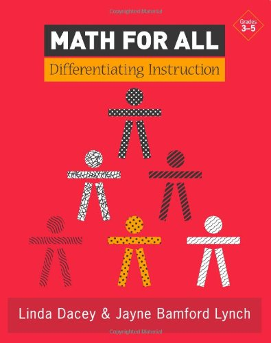 Math for All Differentiating Instruction  2007 9780941355780 Front Cover