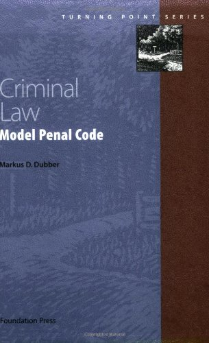Criminal Law Model Penal Code  2002 edition cover