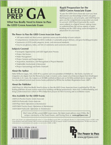 LEED Prep GA What You Really Need to Know to Pass the LEED Green Associate Exam N/A edition cover