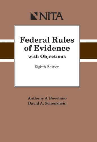 Federal Rules of Evidence with Objections 8th 2008 edition cover