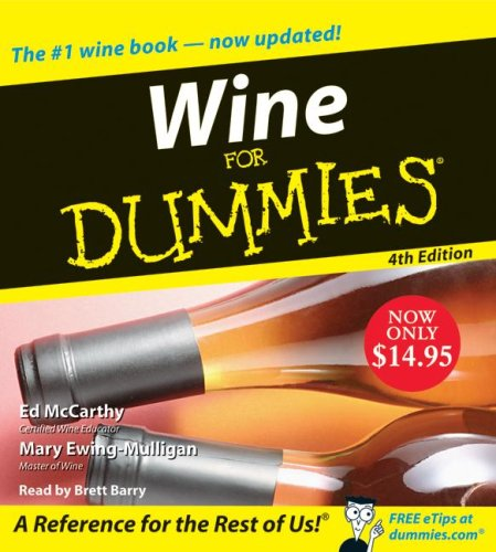Wine for Dummies:  2008 edition cover