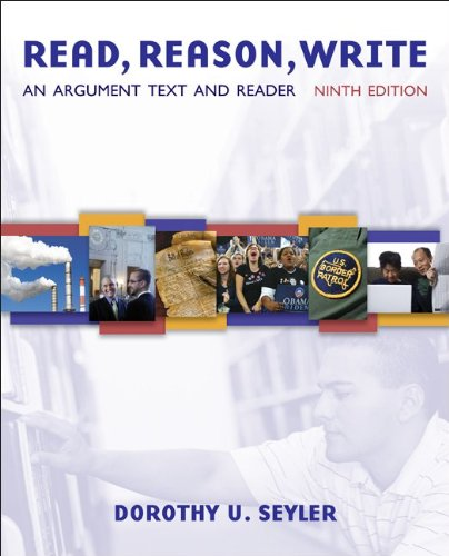 Read, Reason, Write An Argument Text 9th 2010 edition cover