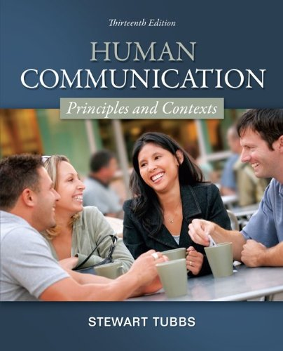 Human Communication Principles and Contexts 13th 2013 edition cover