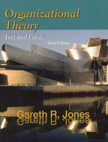 Organizational Theory Text and Cases 3rd 2001 edition cover