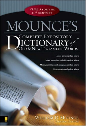 Complete Expository Dictionary of Old and New Testament Words   2006 edition cover