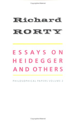 Essays on Heidegger and Others Philosophical Papers  1991 edition cover