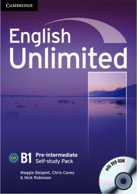 English Unlimited. Level B1 Self-Study Pack. Con DVD-Rom   2010 9780521697781 Front Cover