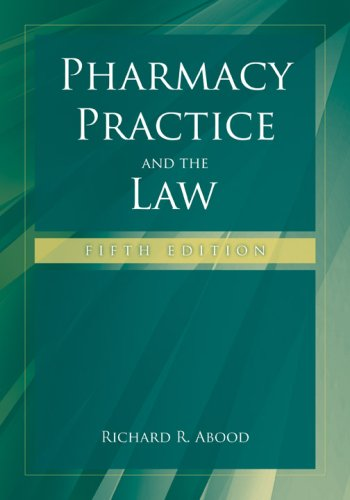 Pharmacy Practice and the Law  5th 2008 (Revised) edition cover