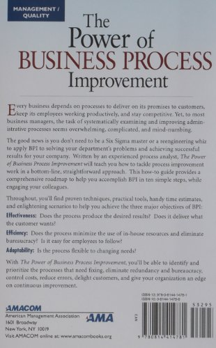 Power of Business Process Improvement 10 Simple Steps to Increase Effectiveness, Efficiency, and Adaptability  2010 edition cover