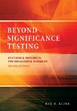 Beyond Significance Testing Statistics Reform in the Behavioral Sciences  2013 edition cover