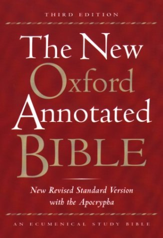 New Oxford Annotated Bible New Revised Standard Version with the Apocrypha 3rd 2001 (Revised) edition cover