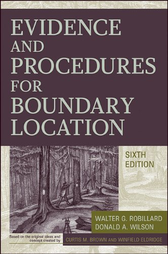 Evidence and Procedures for Boundary Location  6th 2011 edition cover
