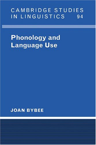 Phonology and Language Use   2003 edition cover