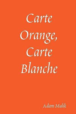 Carte Orange, Carte Blanche:   2008 edition cover