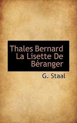 Thales Bernard la Lisette de Bfranger  N/A 9781110682782 Front Cover