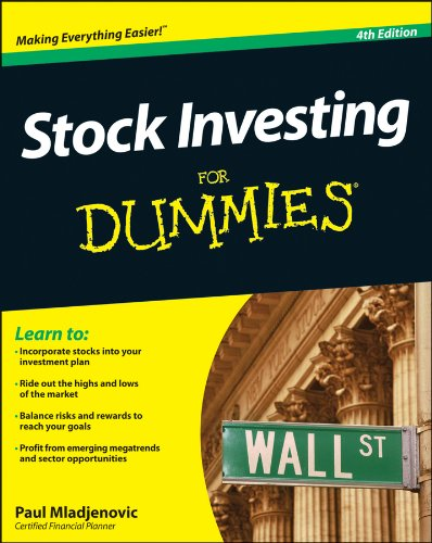 Stock Investing for Dummies�  4th 2013 9781118376782 Front Cover
