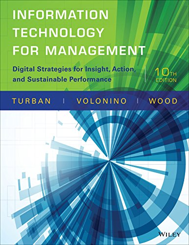 Information Technology for Management Digital Strategies for Insight, Action, and Sustainable Performance 10th 2015 edition cover