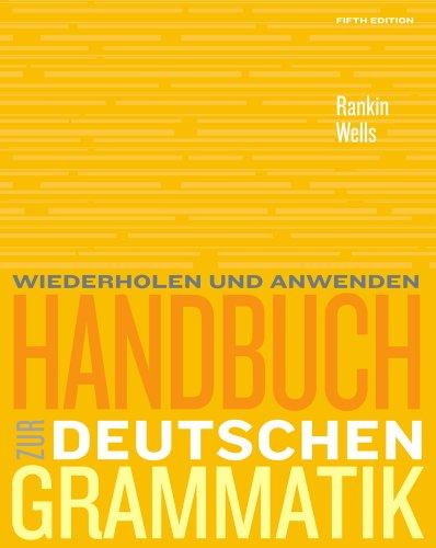 Handbuch Zur Deutschen Grammatik  5th 2011 edition cover