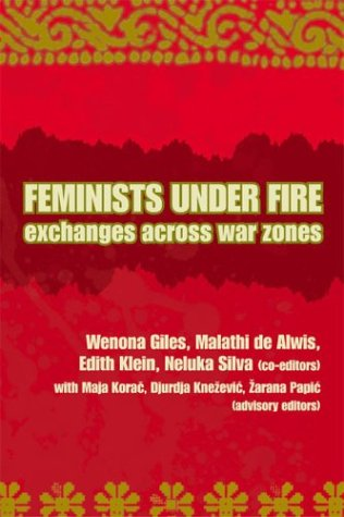 Feminists under Fire Exchanges Across War Zones  2003 edition cover