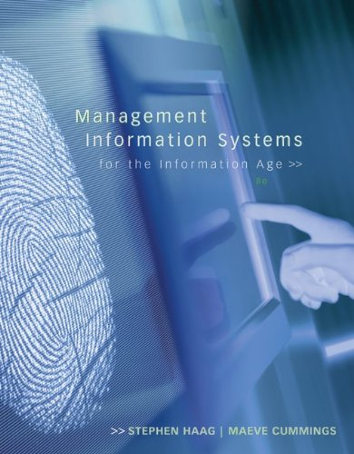 Management Information Systems for the Information Age  8th 2010 edition cover