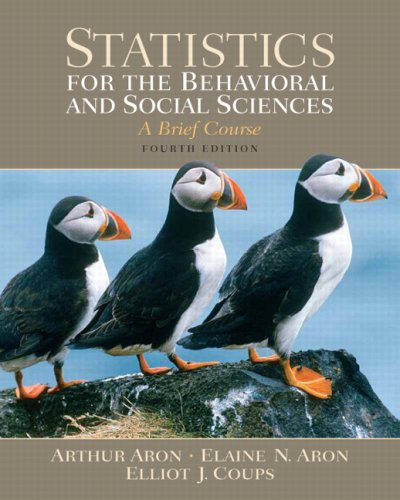 Statistics for the Behavioral and Social Sciences  4th 2008 (Brief Edition) edition cover
