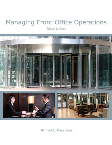 Managing Front Office Operations With Answer Sheet (Ei):  9th 2013 9780133430783 Front Cover