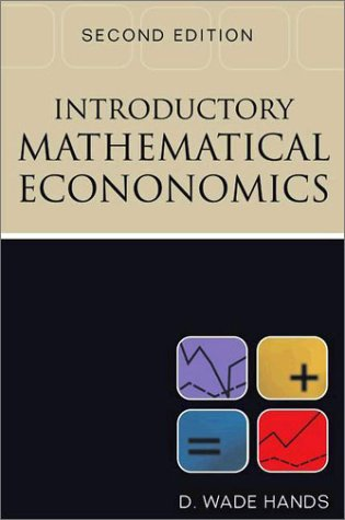 Introductory Mathematical Economics  2nd 2003 (Revised) edition cover