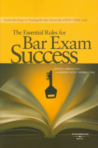 Essential Rules for Bar Exam Success   2008 edition cover