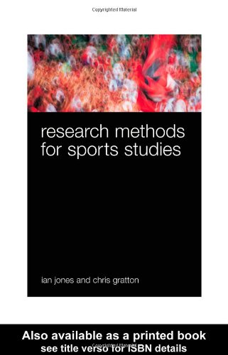 Research Methods for Sports Studies   2003 edition cover