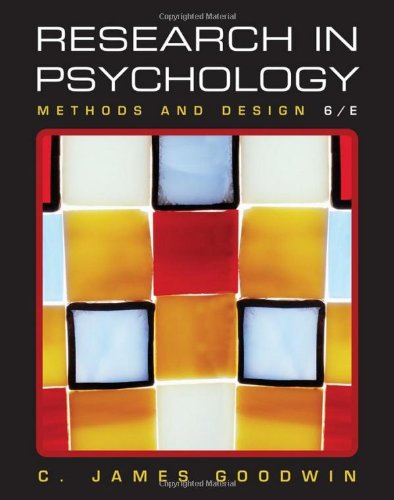 Research in Psychology Methods and Design 6th 2011 edition cover
