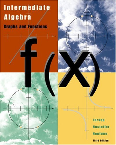 Intermediate Algebra Graphs and Functions 3rd 2003 edition cover