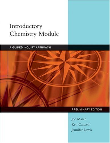 Introductory Chemistry Modules A Guided Inquiry Approach  2008 9780618854783 Front Cover