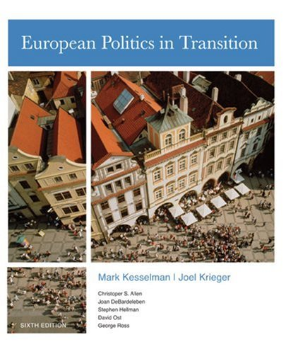 European Politics in Transition  6th 2009 edition cover