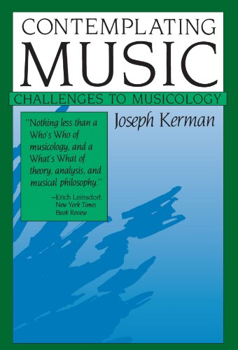 Contemplating Music Challenges to Musicology  1985 edition cover