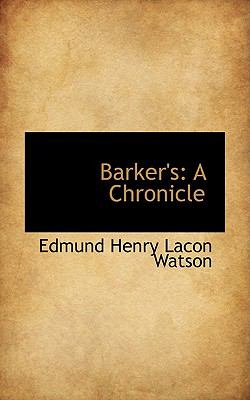 Barker's: A Chronicle  2009 edition cover