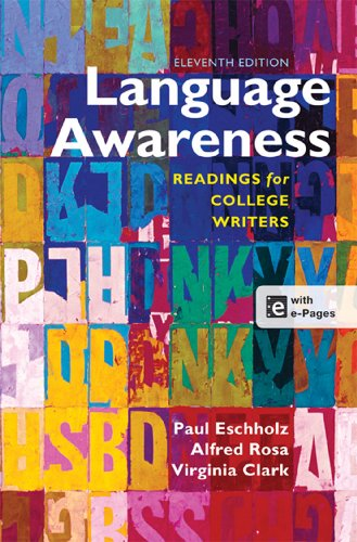 Language Awareness: Readings for College Writers  2013 edition cover